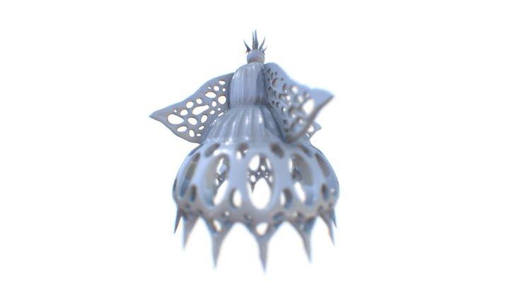 Radiolarians: lipmanella dictyoceras 3D Model