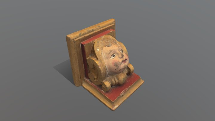 Ménsula de madera 3D Model