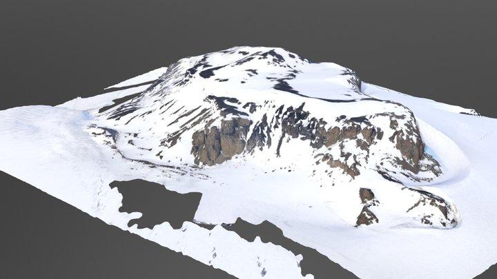 Shield Nunatak, Antarctica 3D Model
