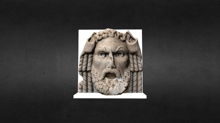 Mascarón Romano (Museo de Orange, Francia) 3D Model