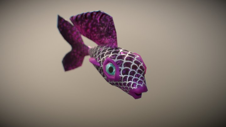 Fancy Guppy Serafina 3D Model