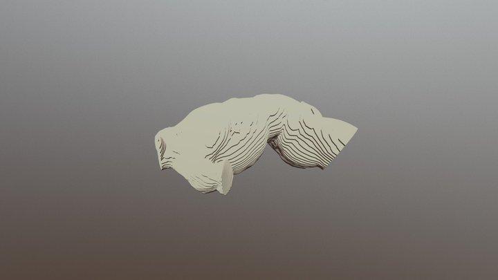 Reclining Male Torso 1 3D Model