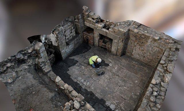 Basement room under excavation, Saw Close, Bath 3D Model