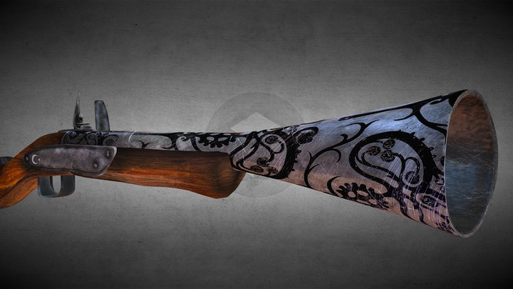 Ottoman Empire Blunderbuss 3D Model