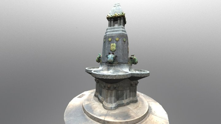 Zsolnay fountain_Pécs 3D Model