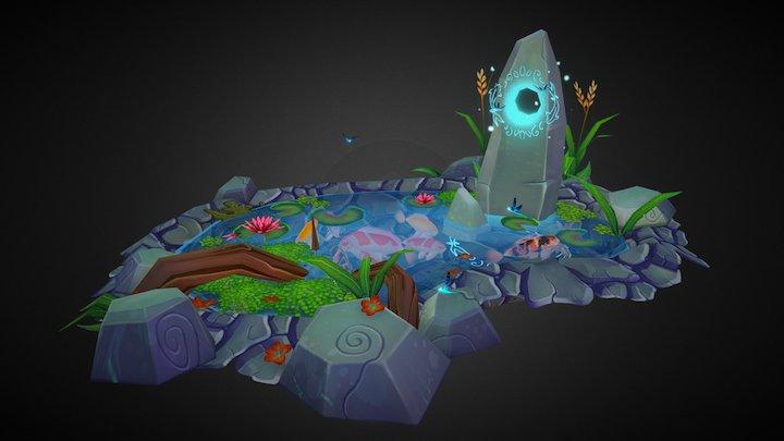 Stone & Koï 3D Model