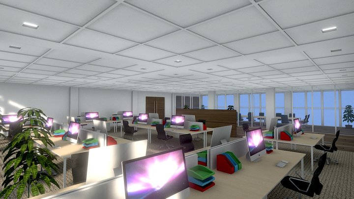 Office Interior test 2 3D Model