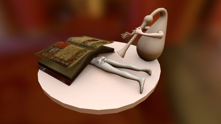 "hieronimusBosch ""music"" 3D Model"