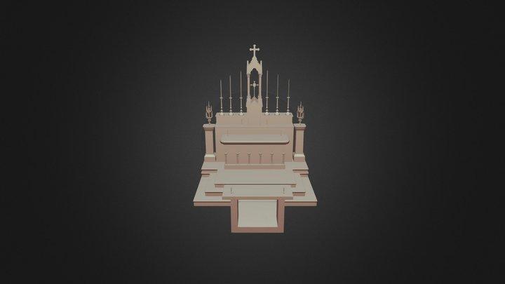 Chancel of L'église de la Sainte-Vierge 3D Model
