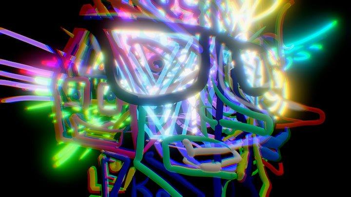 Chaotic Faces 3D Model
