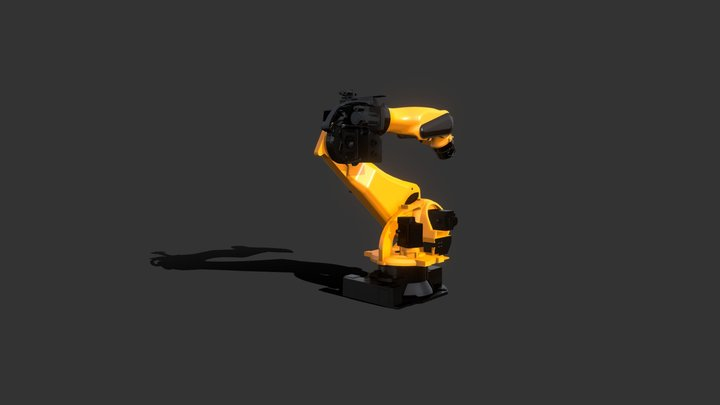 Animated robot arm created for Product AR 3D Model