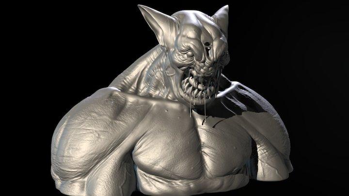 Hi poly_ Monster 3D Model