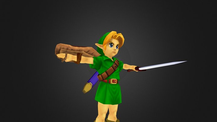 GameCube - Super Smash Bros Melee - Young Link 3D Model