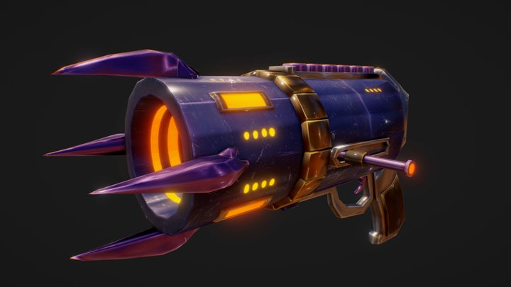 KNG Lob Cannon (Game Ready) (ProtoHunter) 3D Model