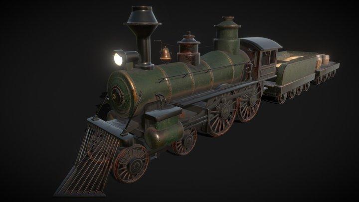 Wild West - Locomotive 3D Model