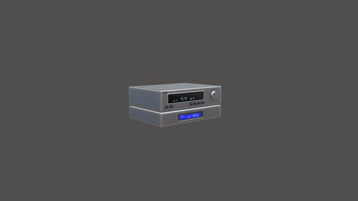 Music player Low poly 3D Model