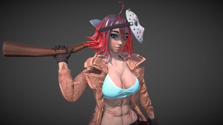 Jason Voorhees Female 3D Model