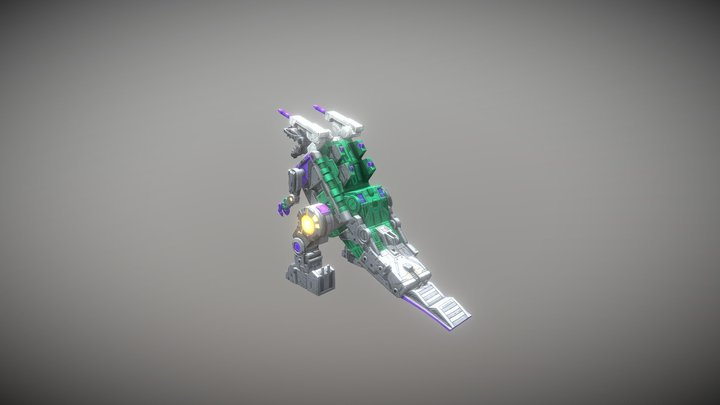 Trypticon 3D Model