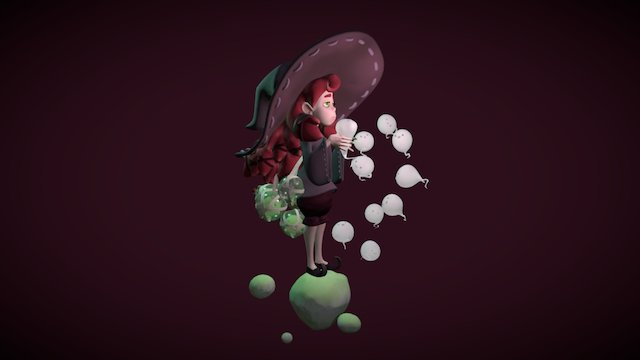 Bored Witch 3D Model