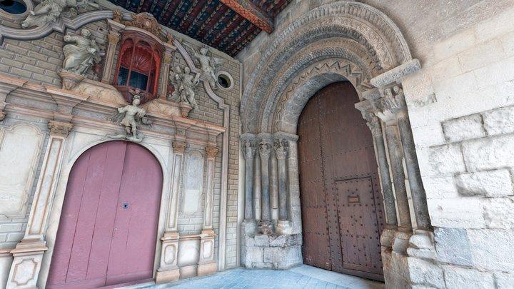 Puerta de la Virgen. Catedral Tudela Sur Scan 3D Model