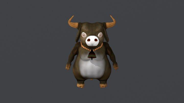 buffalo cartoon 3D Model