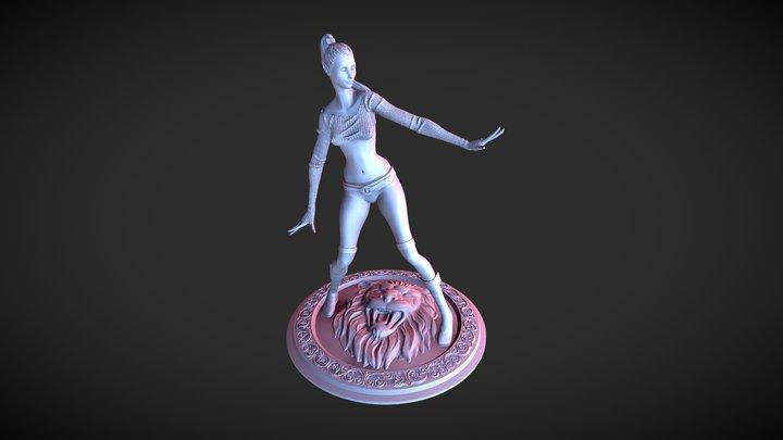 Fantasy Character Elf girl 3D Model