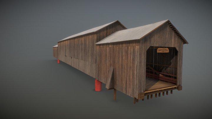Honey Run Covered Bridge 3D Reconstruction 3D Model