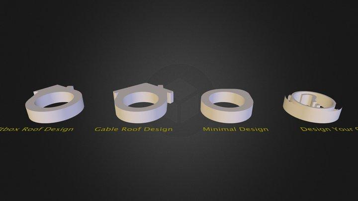 DIY Concrete Ring Kit Design Options 3D Model