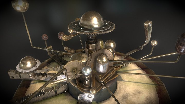 Orrery Low Poly 3D Model