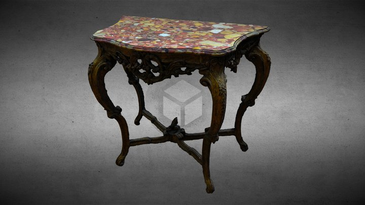 Table Louis XIV 3D Model