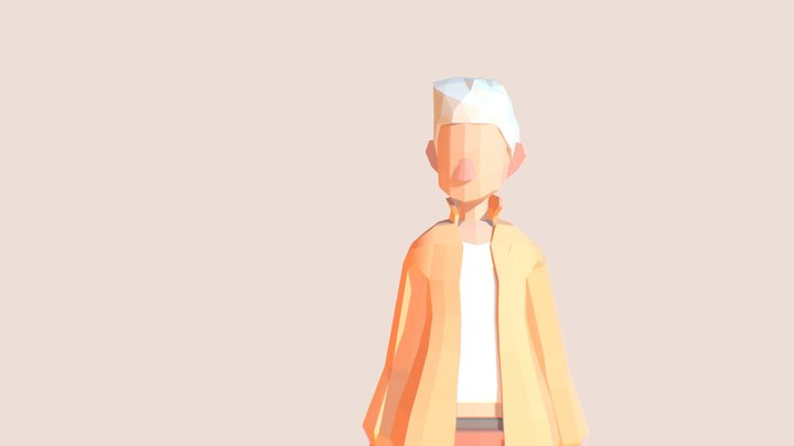 Abel | Lowpoly Character 3D Model