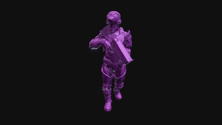 Hexguntestforsketchfab 3D Model