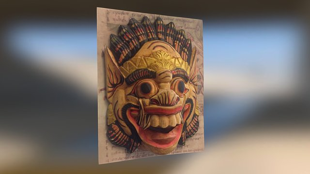 Mask - National Museum of Antiquities 3D Model