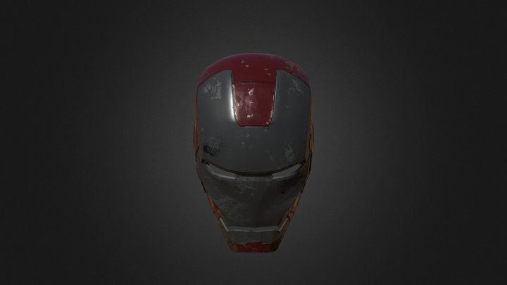 Iron Man -Helmet 3D Model