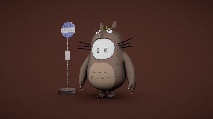 Fall Guys - Totoro 3D Model