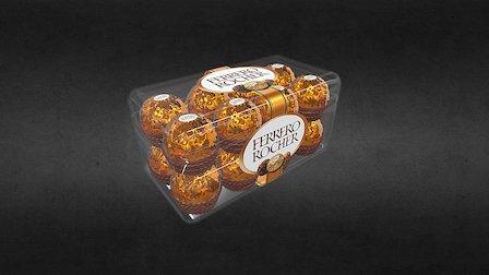 Fererro Rocher Candy Box 3D Model