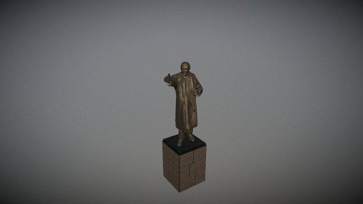 3D модель памятника Ленину 3D Model