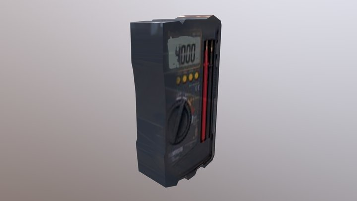 Avometer Digital By Hermanto Manullang 3D Model
