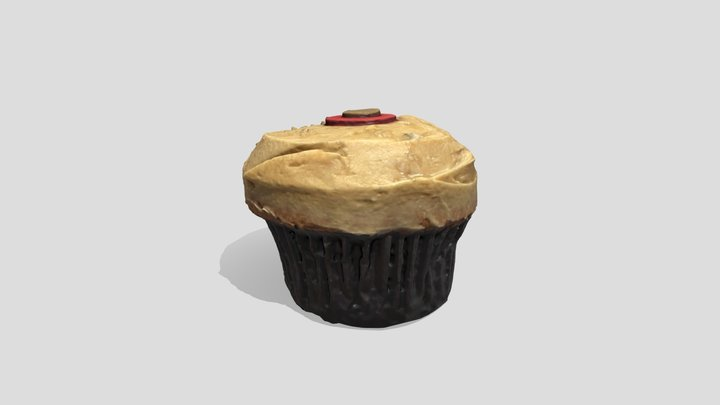 Salted Caramel Cupcake – Made with PhotoCatch 3D Model