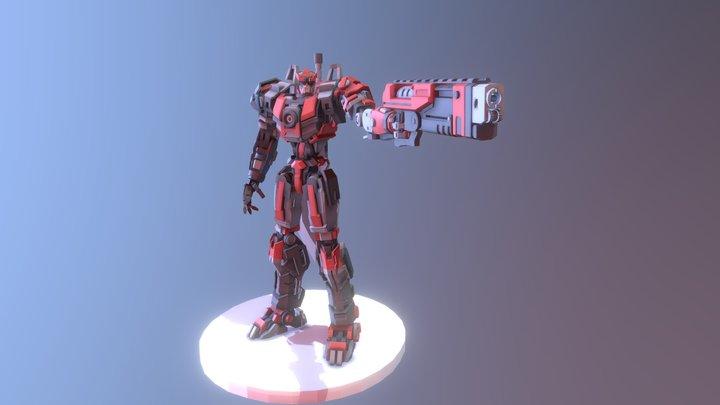 Big Red  X Robot 3D Model