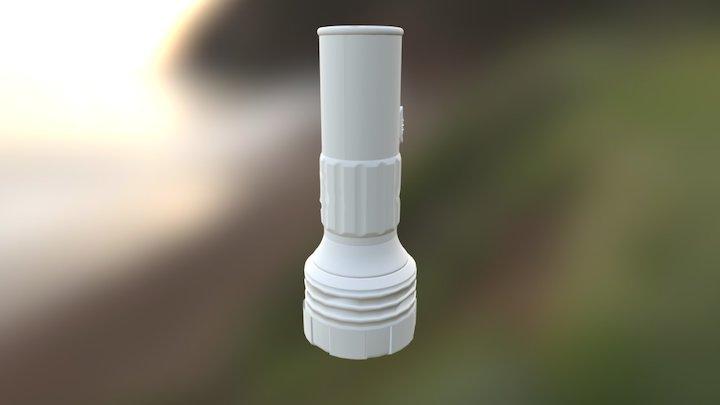 Post Apocalyptic Flashlight 3D Model
