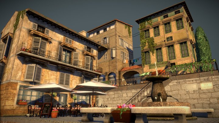 City Scene Italy 3D Model