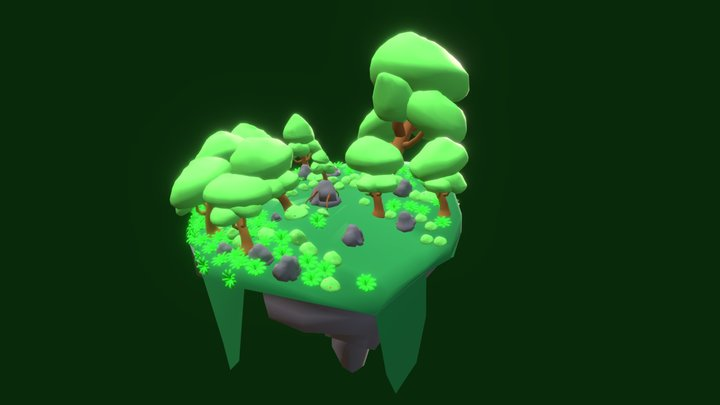 Forest Island 3D Model