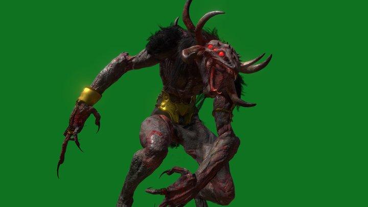 Celtic Demon Beast 3D Model