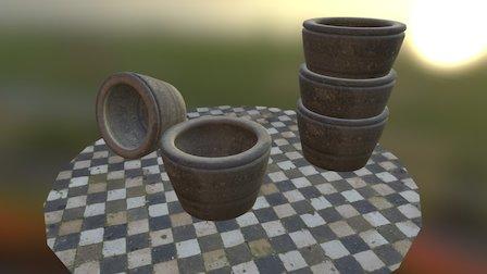 Earthen pots 3D Model