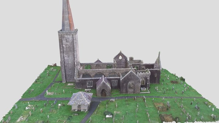 Holy Trinity Church Ruins in Buckfastleigh Devon 3D Model