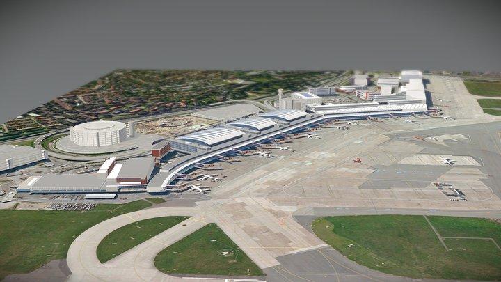 Hamburg airport 3D Model