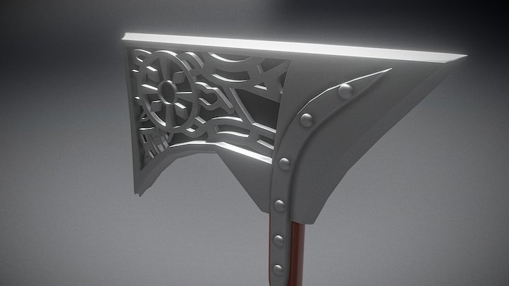 Skyrim War Axe 3D Model