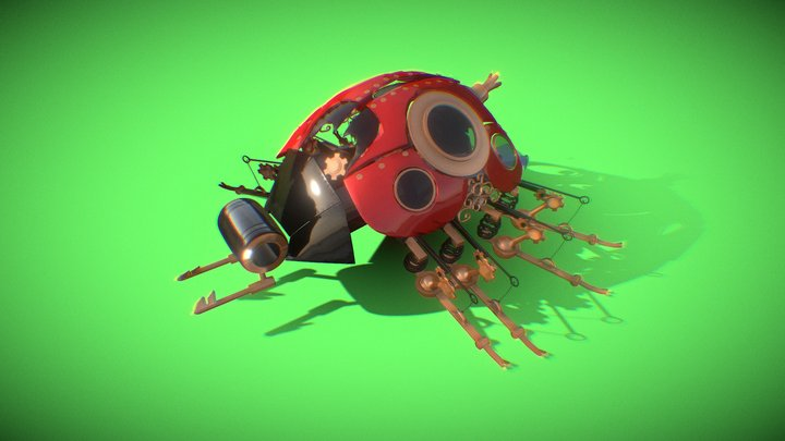 Ladybug Steampunk 3D Model