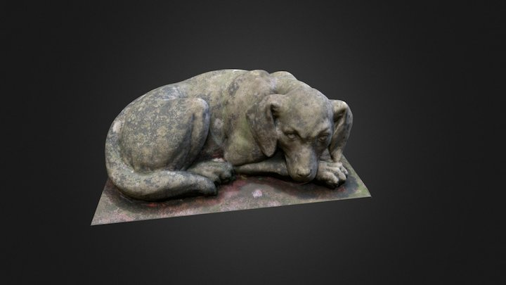 Stone Dog 3D Model